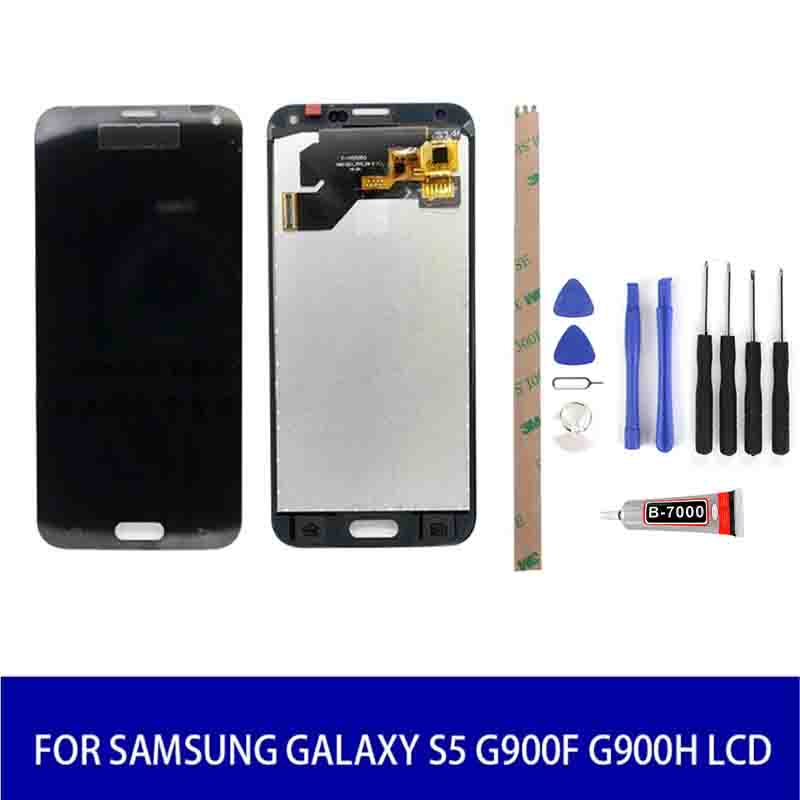 Lcd For <font><b>Samsung</b></font> Galaxy S5 <font><b>G900F</b></font> G900H Lcd <font><b>Display</b></font> Screen Touch Digitizer with Frame Assembly Replacement image