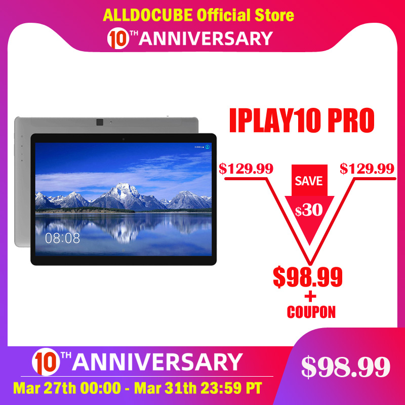 Alldocube iPlay10 Pro 10,1 pulgadas, tableta con WiFi Android 9,0 MT8163 quad core 1200*1920 IPS tabletas PC RAM 3GB ROM 32GB HDMI OTG title=