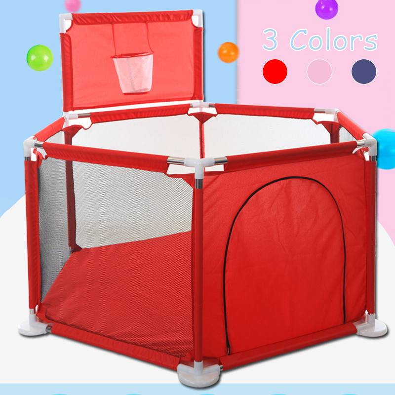 Baby Playpen Fence Folding Barrier Kids Park Children Play Pen Oxford Cloth Game Infants Ball Baby Fencing Playground Play Yard