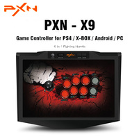 Original PXN PXN X9 Game Controller 6 In 1 Fighting Handle USB Wired Connection Gamepad Joystick For PS4 / X BOX / Android / PC