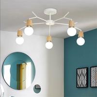 Art Spider Ceiling Lamp Retro Vintage Loft Wood Ceiling Lights Modern LED Home Living Room Dining Room Kitchen Decor Fixtures