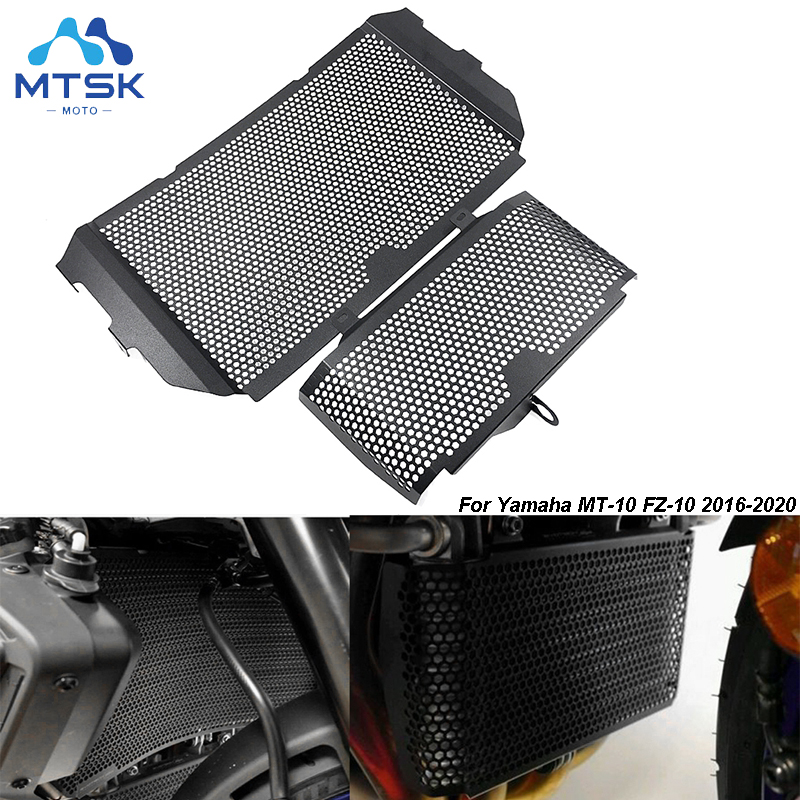 Motorbike Stainless Steel Radiator Grille Guard Cover /& Oil Kit Guard for Yamaha MT-10 MT 10 MT10 2016 2017 2018 2019 2020-Blcak