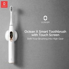 Oclean X Sonic elektrikli diş fırçası Ultra sonic şarj edilebilir diş fırçaları dokunmatik ekran ile yetişkin otomatik elektrikli diş fırçası