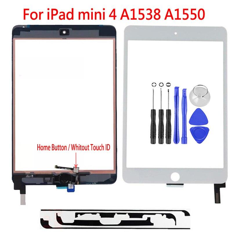 Новинка для Apple iPad mini 4 сенсорный экран дигитайзер не Главная кнопка сборка Переднее стекло Сенсорная панель A1538 A1550 планшет