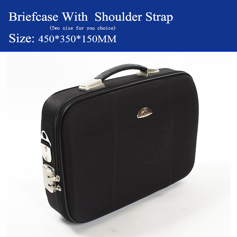 Fine Man Business Briefcase Laptop Bag Suitcase Luggage File Box 14&16 Inch Can Be Inclined Back With Shoulder Strap