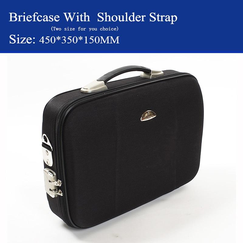 Fijne man Zakelijke aktetas Laptoptas koffer bagage map 14 & 16 inch Kan achterover worden geheld met schouderband