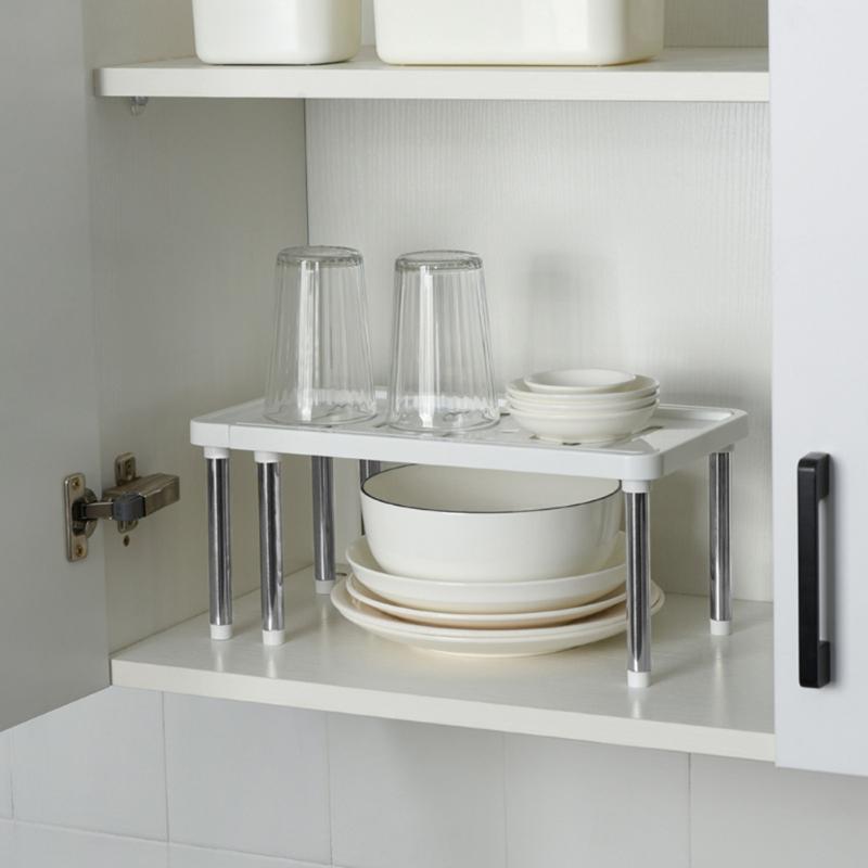 Storage Shelf Shoe Rack Multifunctional Stainless Steel Closet Cabinet Holders Kitchen Bowl Dish Cupboard Organizer