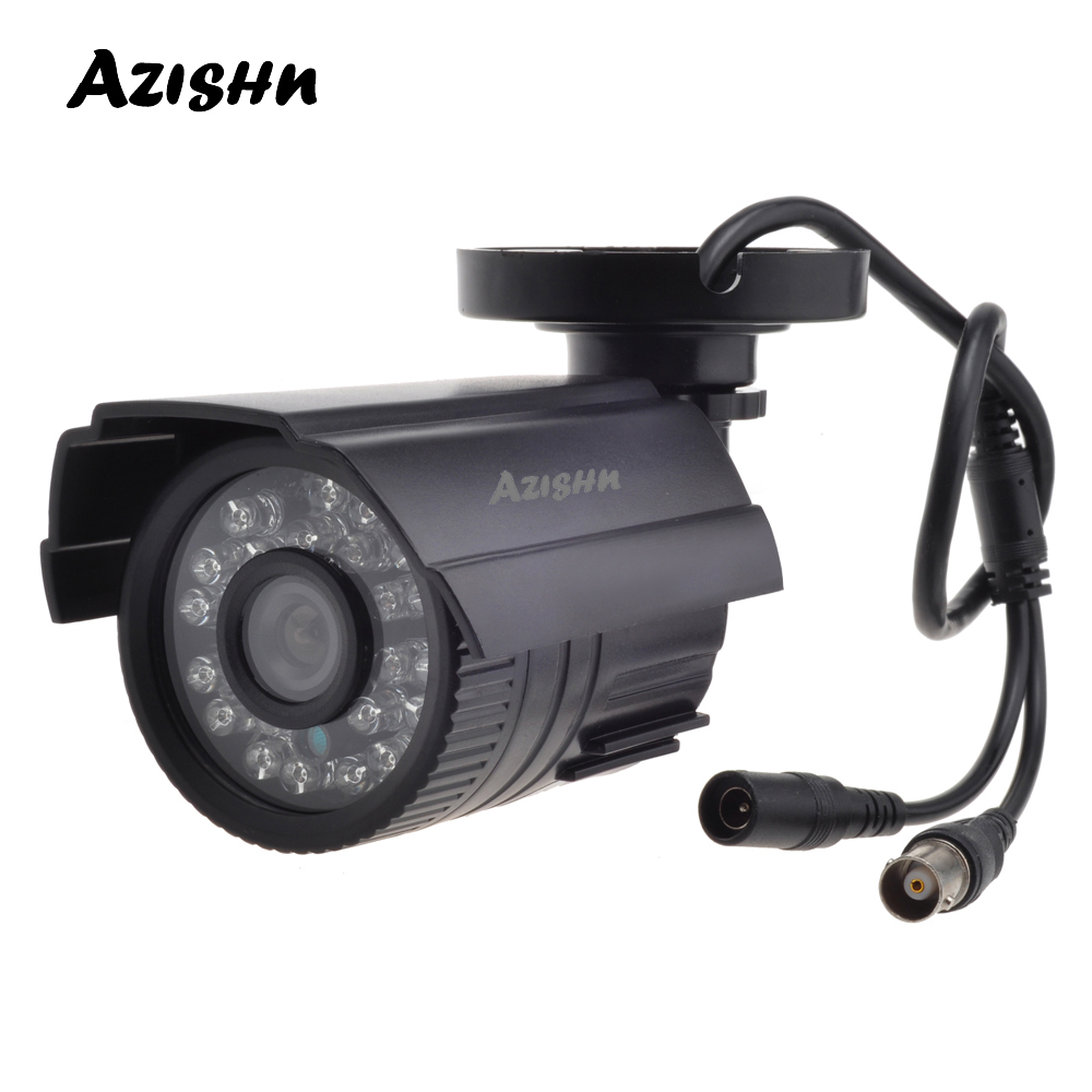 AZISHN CCTV Camera 800TVL/1000TVL  IR Cut Filter 24 Hour Day/Night Vision Video Outdoor Waterproof IR Bullet Surveillance Camera