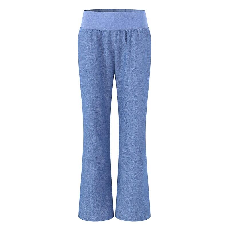 New Wide Leg Pants The Wild Nine Pants Loose Pants High Waist Jeans Female Summer Sense High Waist Pants Plus Size