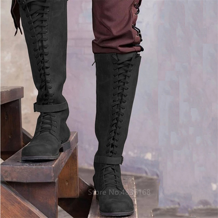 Medieval-Costume-Men-Knight-Boots-Viking-Cosplay-Larp-Shoes-PU-Leather-Warrior-Women-Cosplay-Fancy-Boot (2)
