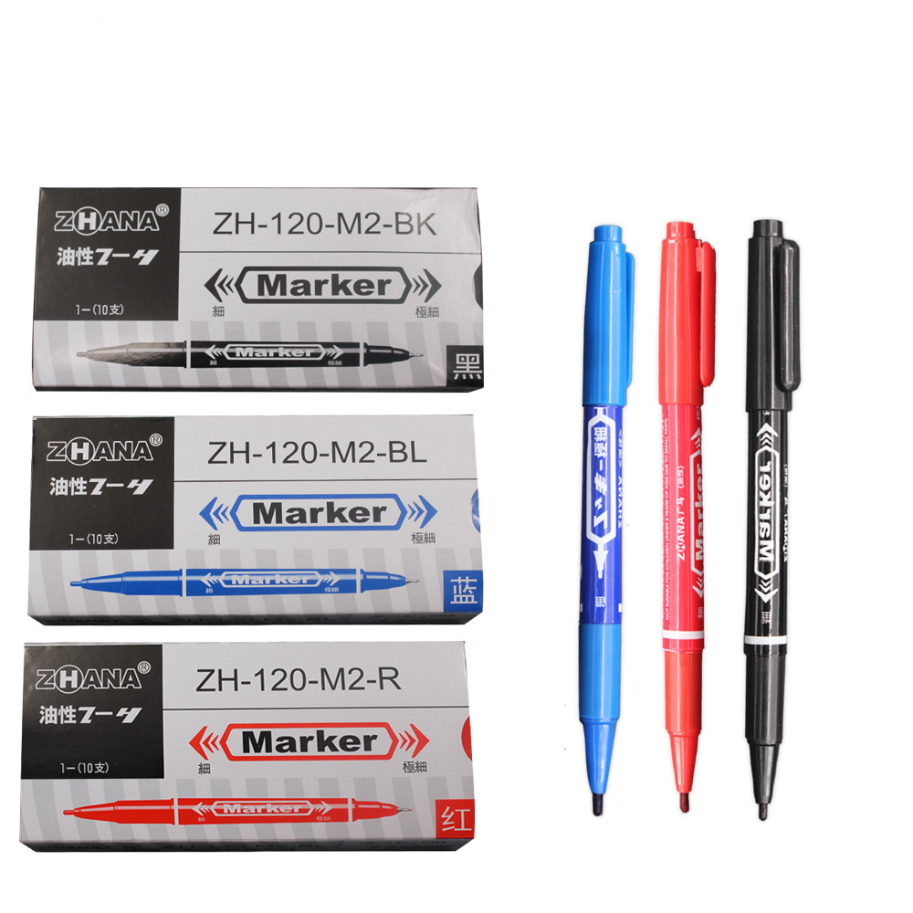 5PCS 0.5mm And 1mm Permanent Markers Tattoo Pens Fine Point Black Blue Red Large Capacity Ink Scribe Tool Good Waterproof Ink