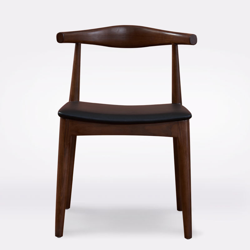 Nordic Solid Wood Dining Chair Back Chair Stool Horn Chair Fashion Modern Minimalist Adult Household Leisure Chair