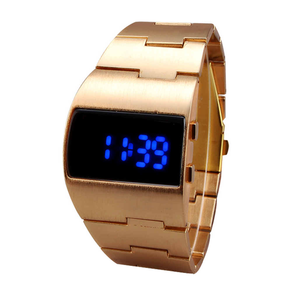 Men Women Digital Watch LED Display Bracelet Adjustable Iron Man Gift Outdoor Fitness Decoration Portable Casual Cool Electronic