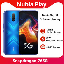Toque 8g 128g 5g telefone móvel 6.65 polegada amoled 144hz tela snapdragon 765g sa nsa faixa dupla na tela 30w pd carregador rápido