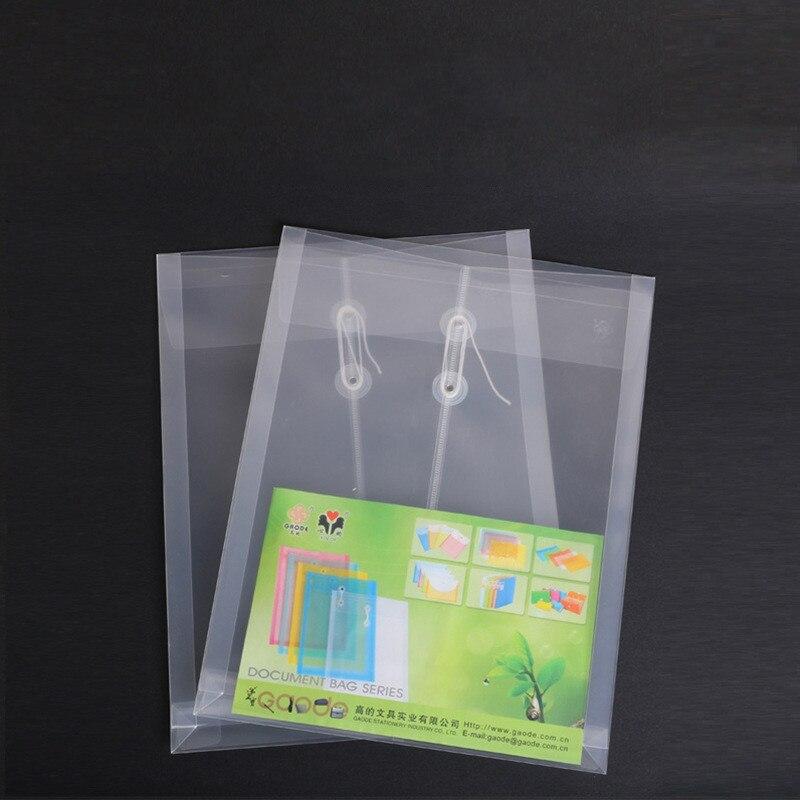 A4 Transparent Document Bag Paper Folder Stationery School Office Paper Bag