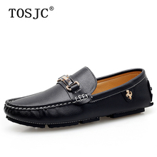 TOSJC Autumn Man Casual Loafers Breathable Boat Shoes for Mens Lightweight Moccasins Slip-on Driving Soft Buckle Footwear