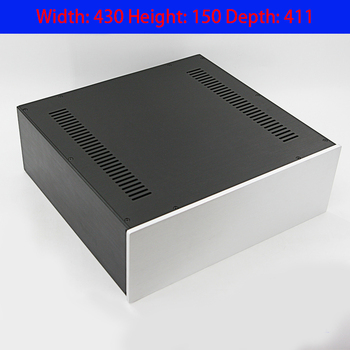 KYYSLB 430*150*408MM 4315C All Aluminum Amplifier Chassis Sell DIY Box Enclosure Amplifier Case with Cooling Holes