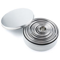 14Pcs/Set Round Cookie Biscuit Cutter Set Stainless Steel Mousse Cake Ring Mold Pastry Biscuit Donuts Cutter