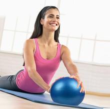 HobbyLane 26cm Yoga Ball Exercise Gymnastic Fitness Pilates Balance Gym Core Indoor Training Hot