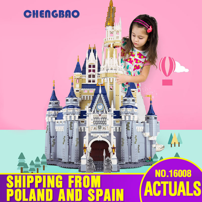 DHL 16008 Cinderella Princess Castle Model Educational Building Block Kid Toys Gift Compatible With Lepining 71040 Kids Toys