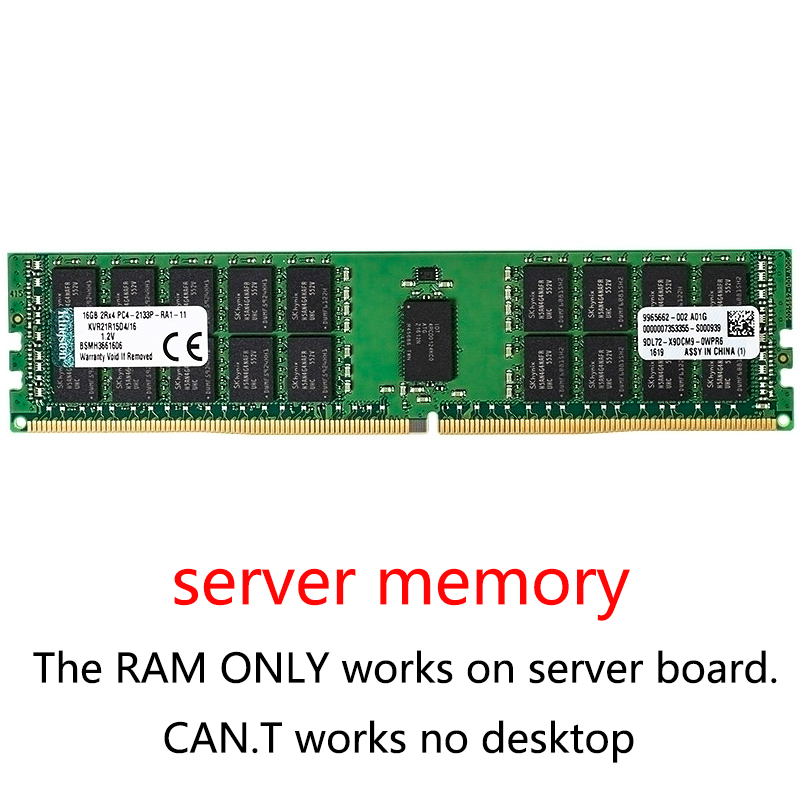 DDR4 Server Memory Ram 4GB 8GB 16GB 32GB PC4 2133MHz 2400MHz 2666MHz 2400T Or 2133P 2666V ECC REG Server Memory Ddr4 8g 16g 32g