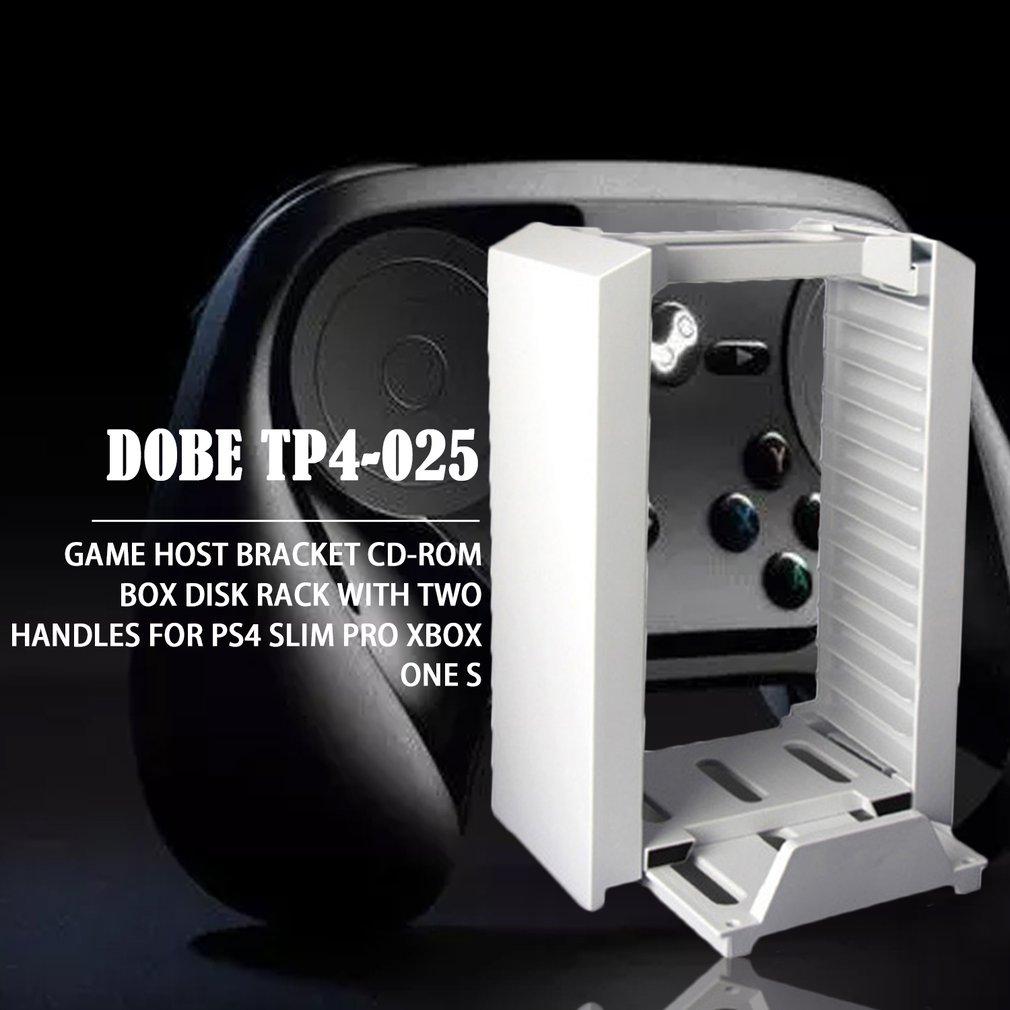 PS4/PS4 Slim/PS4 PRO/PS VR игровой диск станция для хранения консольная стойка держатель с контроллером Move зарядная док-станция Вентилятор охлаждения