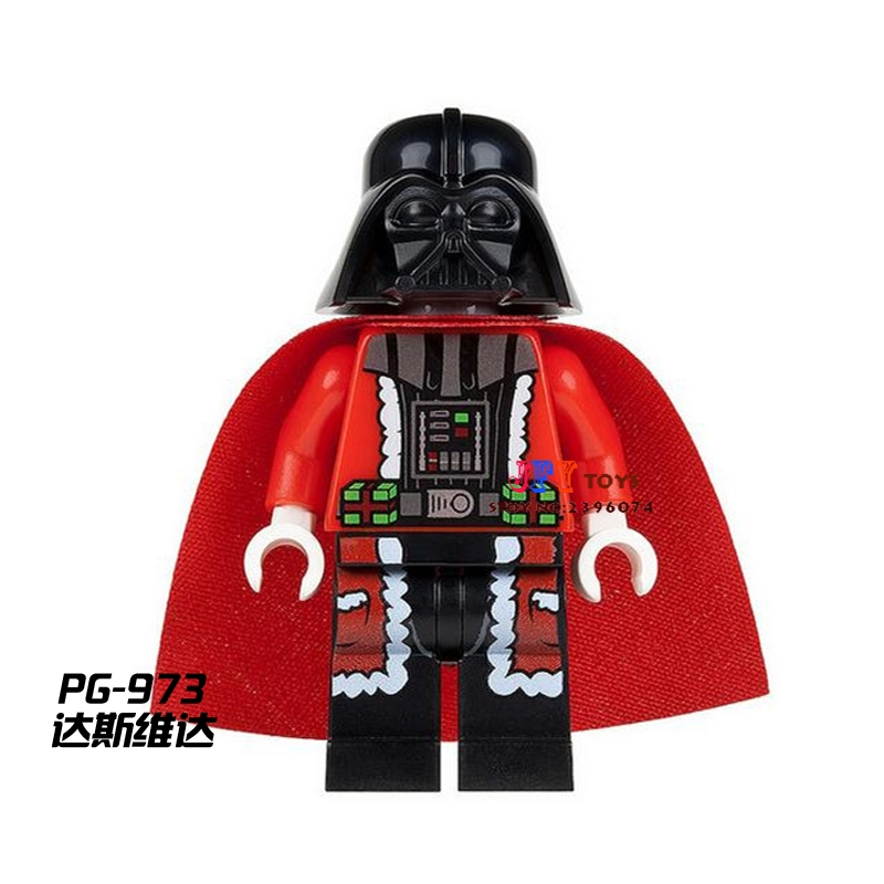 Single Superhero Marvel Christmas Santa Darth Vader Building Blocks Model Bricks Toys For Children Action Figures