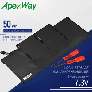 ApexWay new a1369 2011 2012 2013 2014 production replace a1405 a1496 laptop battery for apple macbook air 13