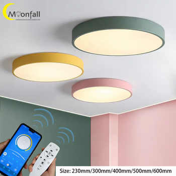 Moonfall-LED ceiling lighting Circle and Square lamp Modern&Simple design lights for Bedroom,Kitchen,Foyer,Living room,Study - Category 🛒 Lights & Lighting