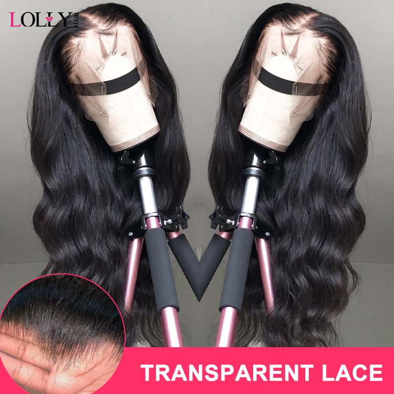 Malaysian Transparent 13x4 Lace Front Human Hair Wigs Loose Wave Closure Wig Pre-plucked With Baby Hair For Black Women 150%