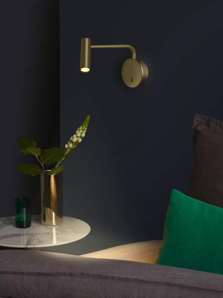 ZEROUNO Wall-Light Switch Bedside Modern-Decor Bedroom Home Interior Indoor 3W LED Arm-Swivel