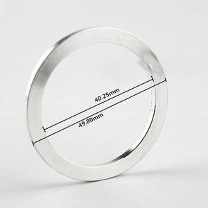 Peças de reparo do orador do fone de ouvido do bluetooth 40mm a 50mm unidade do orador adaptador anel do motorista do fone de ouvido de alumínio alta qualidade 2 pces