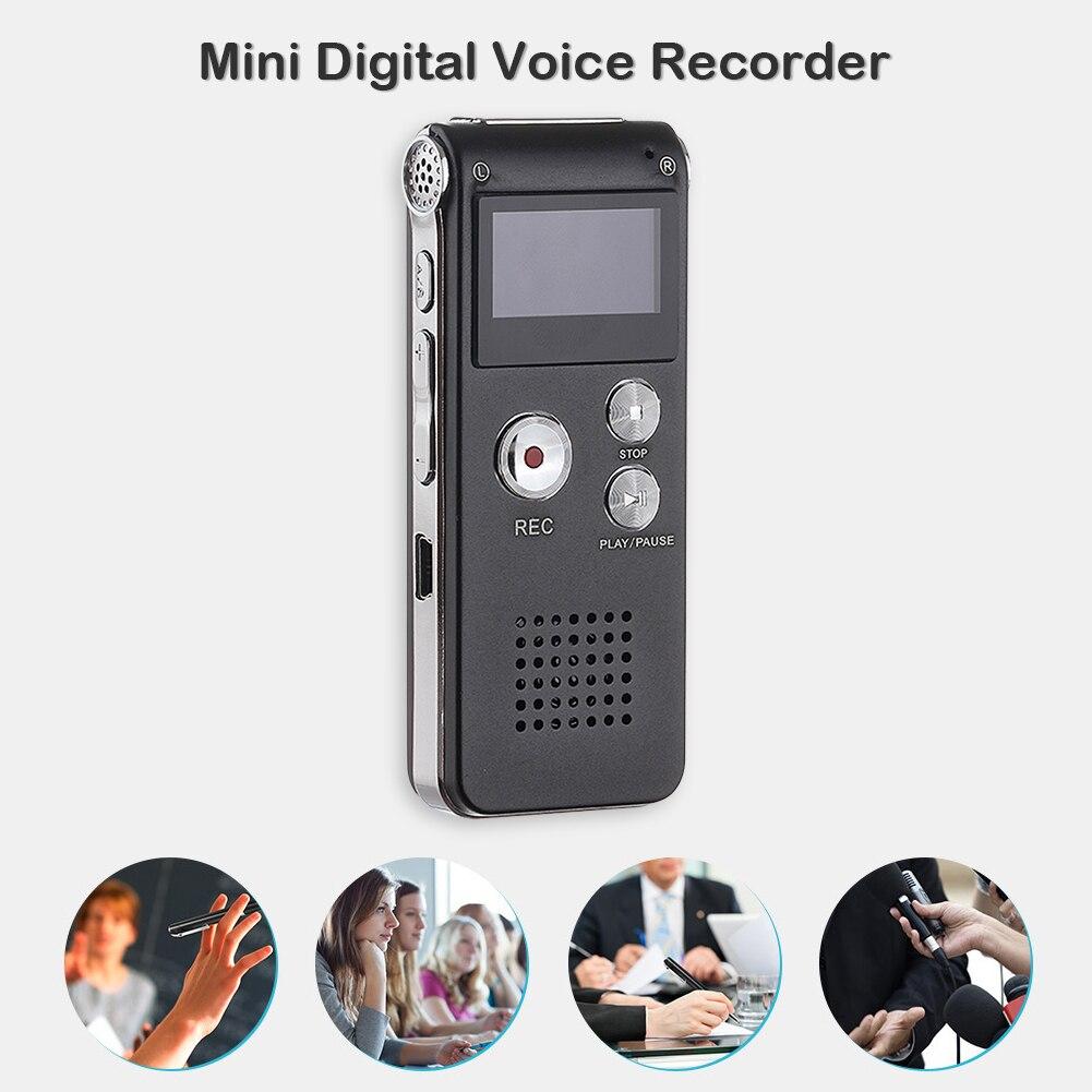 8GB Portable Digital MP3 Dictaphone Voice Activated Digital Audio Recorder Professional Mini Voice Recorder Pen