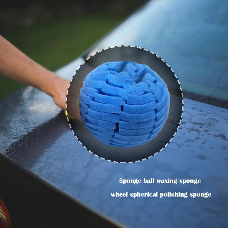 Car Polishing Sponge Ball Round Sponge Waxing Buffing Grinding Polishing Wheel Save Your Time And Energy For Convenience