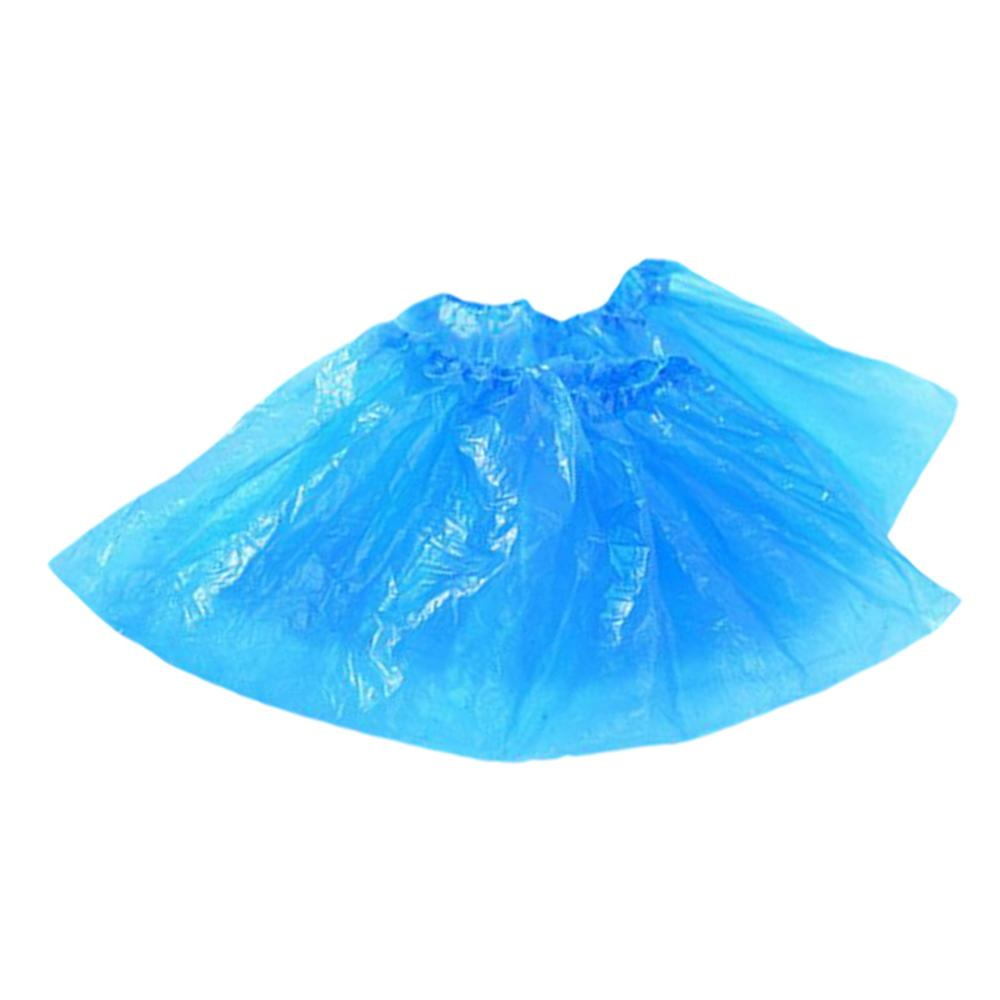 100 Pairs Disposable Shoe Cover Hot Sale Shoe Cover Nonslip Overshoes Protection Indoor/Home Blue Waterproof Shoe Covers