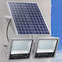 1pc Floodlight Solar Powered 200W 180W 150W 120W Led Flood Light Outdoor Lights Solar Project Street Lamp Landscape