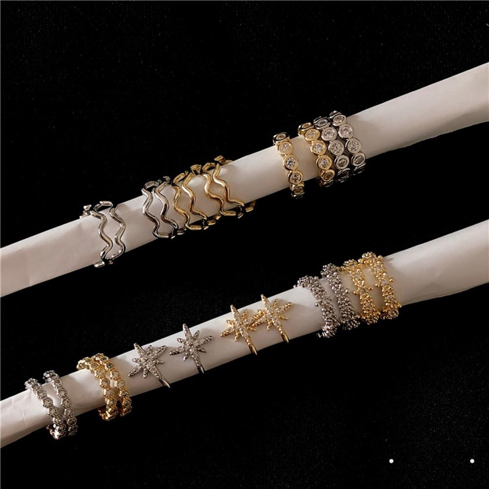 Vintage Punk Crystal Geometry Ear Clip Wrap Earrings Women Non Pierced Fake Cartilage Jewelry On Silver Gold Earrings Earcuffs