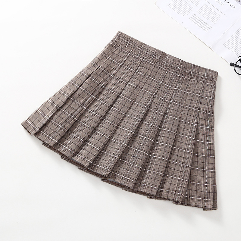 Image 4 - Japanese Girls Pleated Skirt Plaid Princess Party Clothes School Skirts High Waist Soft A Line Student Uniform Children Clothing-in Skirts from Mother & Kids