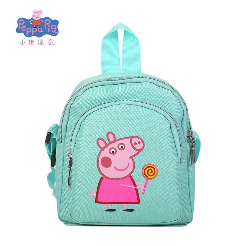 2019 New Genuine Peppa Pig George Pig Backpack Girls Wallet Phone Bag Backpack Wallet Phone Bag Toys Children's  Christmas Gift