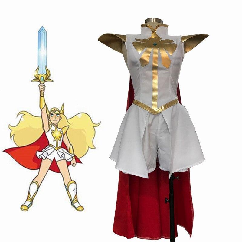 She-Ra and The Princesses of Power She-Ra/Princess Cosplay Costume Adora Uniforms Dress Kids Halloween Suits Outfits Custom Made
