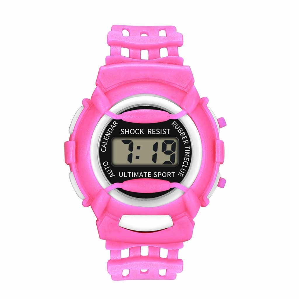 Çocuk izle dijital LED izle silikon su geçirmez spor saat taśma led montre enfant прикольные подарки Reloj Infantil # L0
