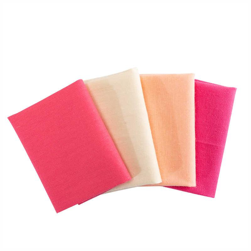 無地綿縫製生地のパッチワークキルティング縫製材料diyハンドメイドシリーズ 20*25 センチメートル 4 ピース/パックP03-TJ1028
