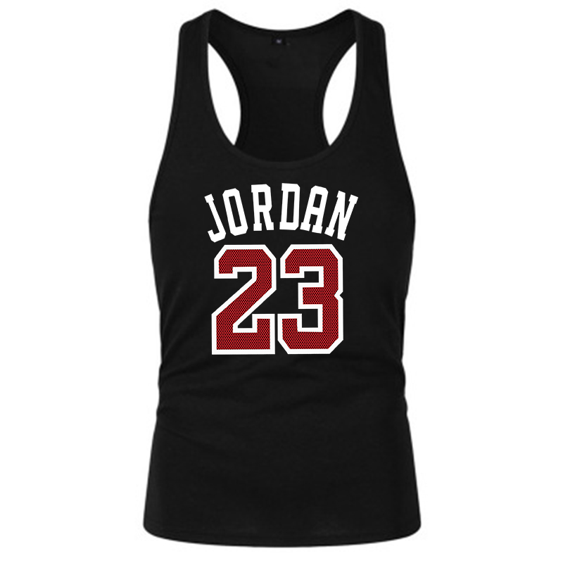 Summer Brand Clothing Jordan 23 Men Vest Cotton Print Men Fitness Tank Tops Fitness Camisetas Hip Hop Sleeveless Shirt