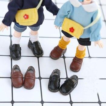 Ob11 靴学校制服靴は汎用性があり日本革小物黒人形靴