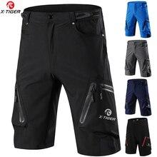 X-Tiger, летние мужские велосипедные шорты, шорты для горного велосипеда, шорты для спуска, свободные, для спорта на открытом воздухе, для верховой езды, для шоссейного велосипеда, короткие брюки