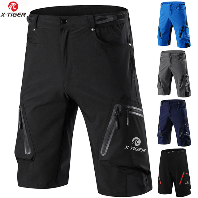 X Tiger Summer Mens Cycling Shorts Mountain Bike Downhill Shorts Loose Outdoor Sports Riding Road MTB Bicycle Short Trousers
