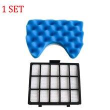 Filtre HEPA et 1 jeu de filtres éponge bleue pour Samsung DJ97-00492A, pièces d'aspirateur, SC6520/30/40/50/60/70/80/90 SC68, 1 pièce