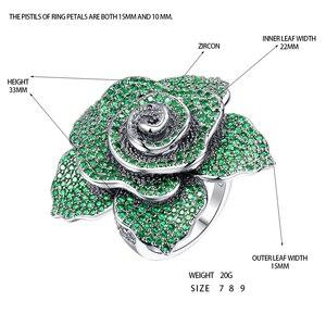 Image 5 - ERLUER bagues de bijoux de marque pour femmes, bague de luxe, en cristal rose, zircon, à la mode, pour fêtes de mariage, de luxe