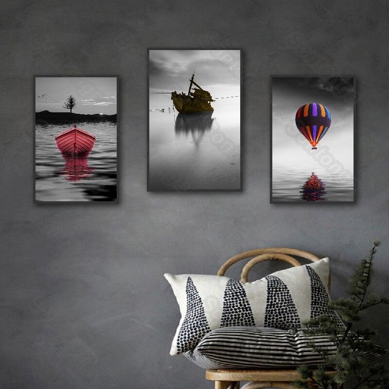 Домашнее украшение, воздушный шар, настенная Картина на холсте, парусная лодка, Приморский вход, гостиная, коридор, кабинет, гостиница