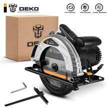 Deko dkcs185ld3/dkcs185l1 185mm, serra circular elétrica, corte multifuncional mdle, alta potência e corte multi-função mach